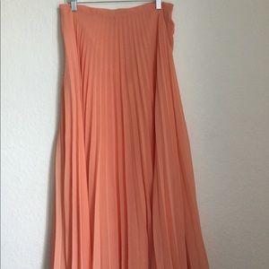 Zara Maxi Pleated Maxi skirt Size medium